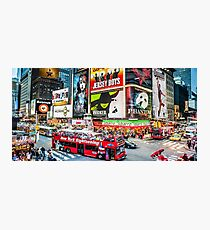 Times Square II widescreen Photographic Print