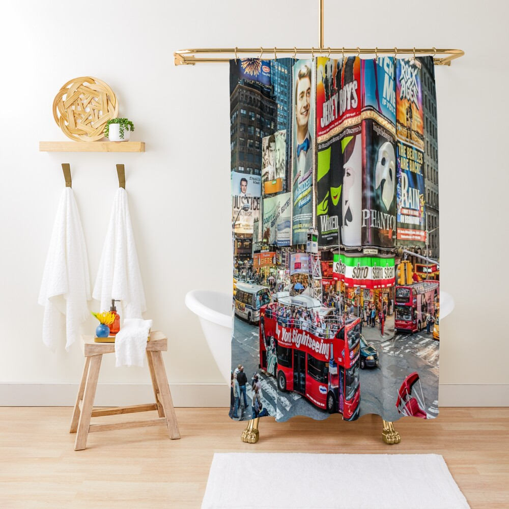 Times Square II widescreen Shower Curtain
