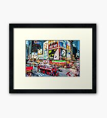 Times Square II (digitally repainted) Framed Print