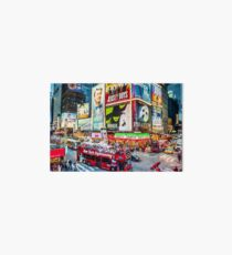 Times Square II (digitally repainted) Art Board Print