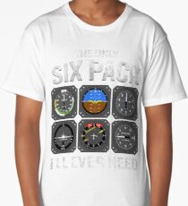 Funny Pilot Quote Cockpit Airplane Flight Intruments Long T-Shirt