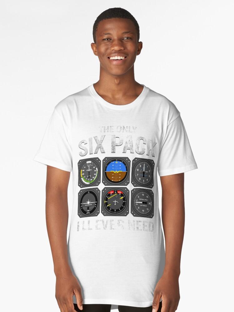 Funny Pilot Quote Cockpit Airplane Flight Intruments Long T-Shirt Front