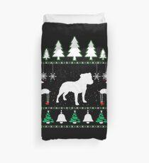 Staffordshire Bull Terrier Ugly Christmas T shirt. Duvet Cover