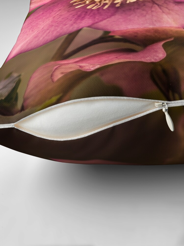 Alternate view of Christmas Rose Throw Pillow