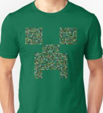 Minecraft Creeper Made Out 750 Minecraft Items Unisex T-Shirt