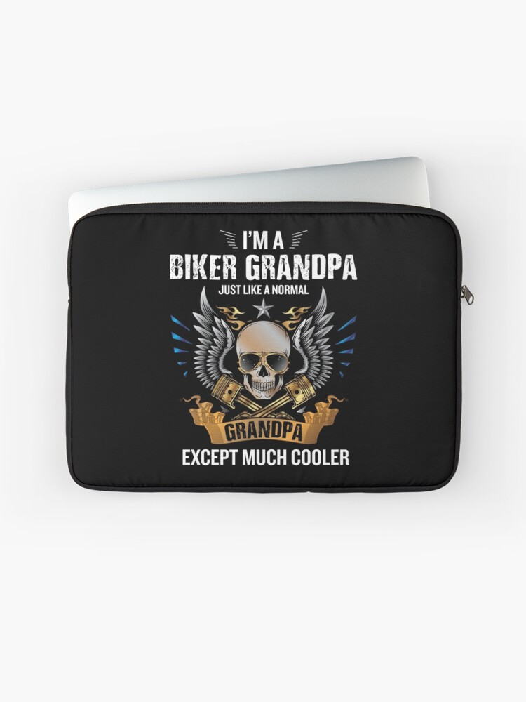 I M A Biker Grandpa Funny Quote Rider Motorcycle Tee Laptop Sleeve