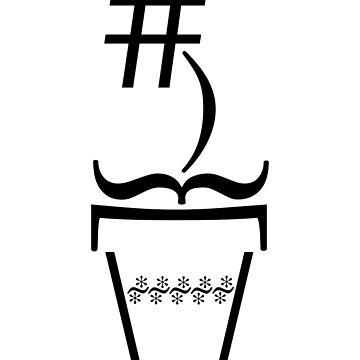 Hashtag Flower (black) by Endovert