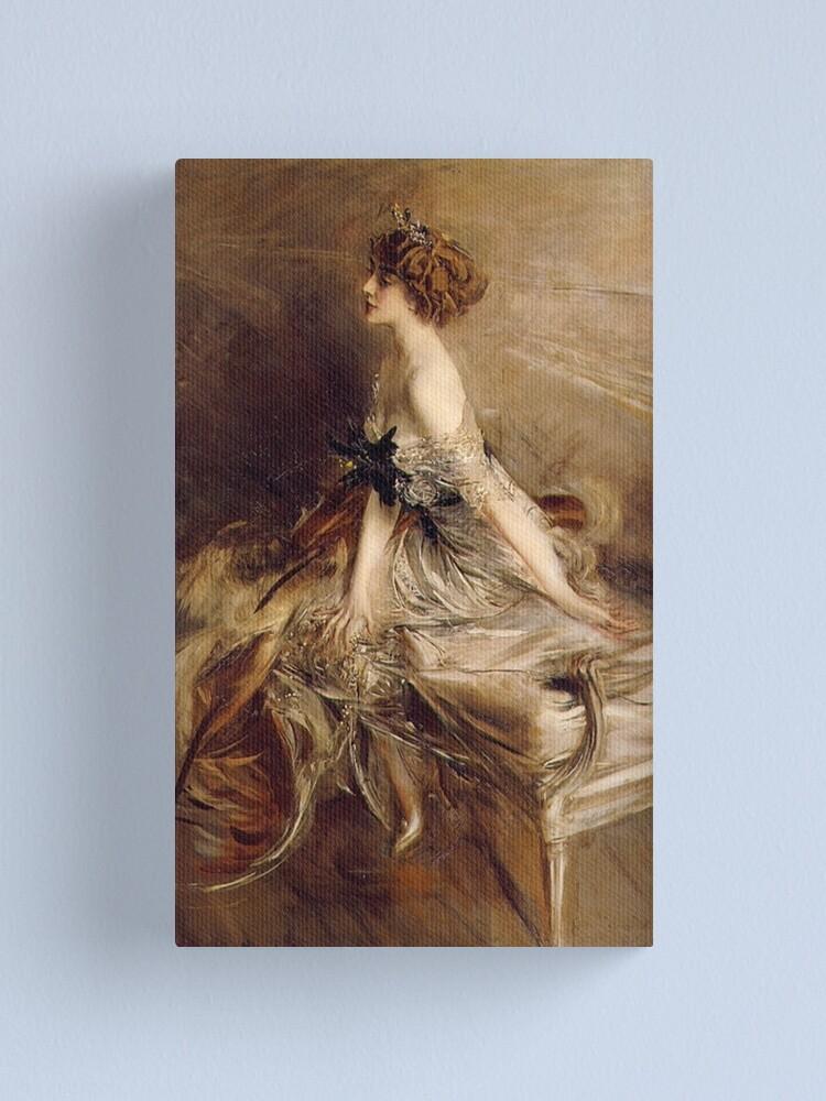 Alternate view of Vintage Giovanni Boldini Portrait-of-Princess-Marthe-Lucile-Bibesco-1911 Canvas Print