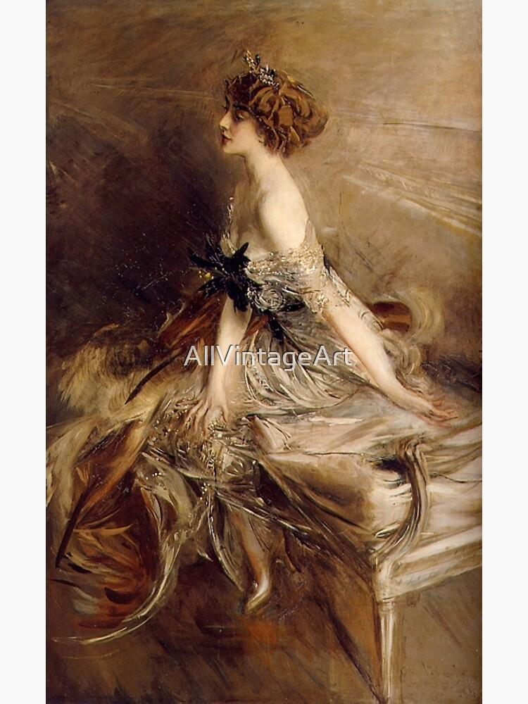 Vintage Giovanni Boldini Portrait-of-Princess-Marthe-Lucile-Bibesco-1911 by AllVintageArt