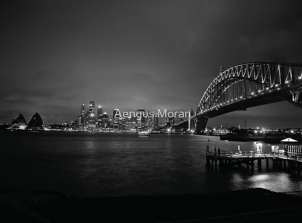 Sydney Harbour Bridge, CBD Skyline and Opera House at night by Aengus Moran