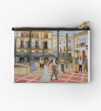 Dancing in The Plaza - Ronda Spain Studio Pouch