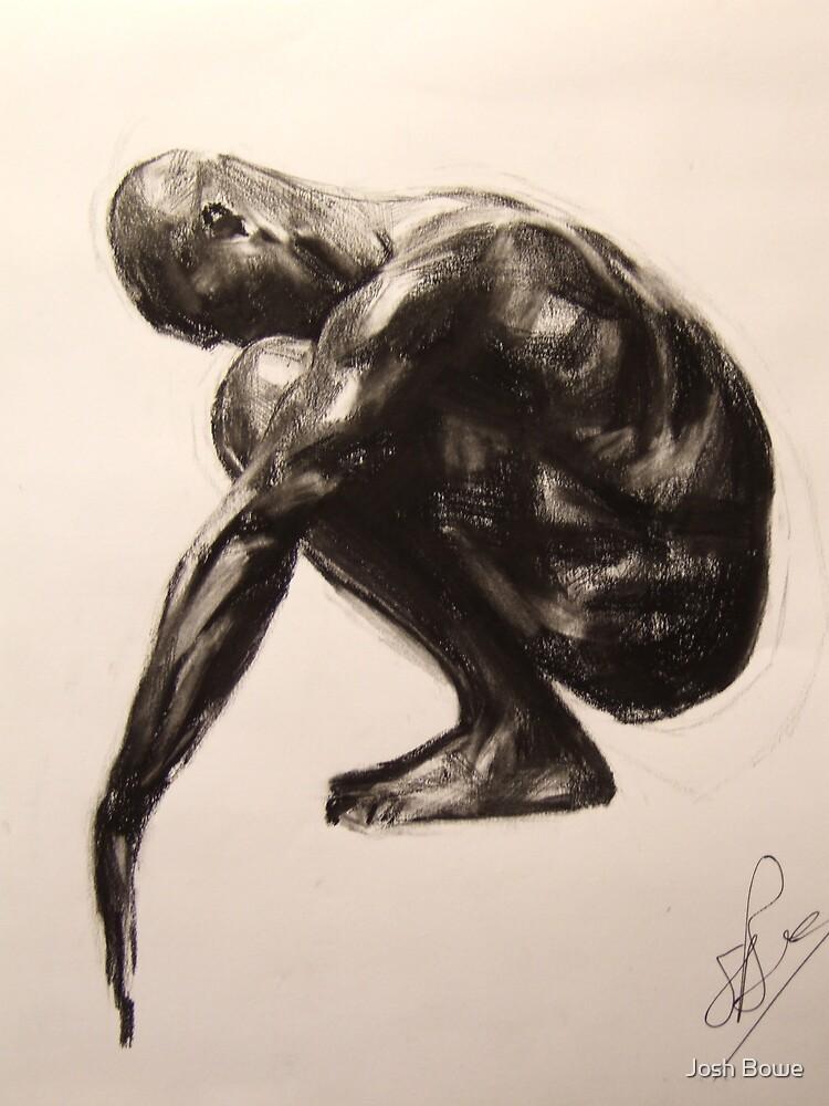 Squatting Figure(Sketch) by Josh Bowe