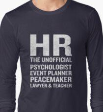 Camiseta de manga larga Camiseta de recursos humanos Funny HR Cita extraoficial Job Joke