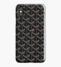 Black Goyard iPhone Case/Skin