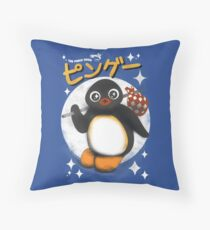 The pingu show Throw Pillow