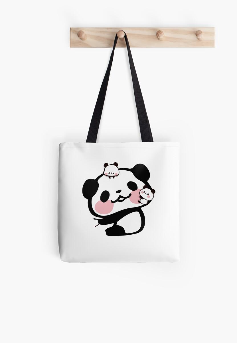 8a5b6dcbfe1a Cute Kawaii Pandas Hugging Love Novelty Print