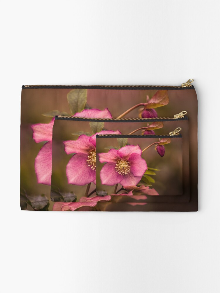 Alternate view of Christmas Rose Zipper Pouch
