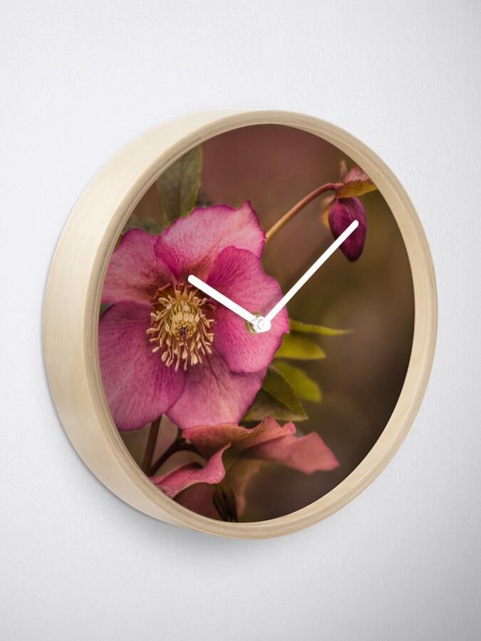 Alternate view of Christmas Rose Clock