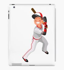 Baseball Vector Boy Mascot Poster iPad Case/Skin
