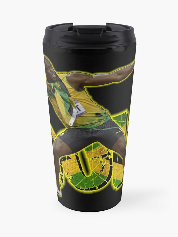 Usain Bolt Tribute 2 Travel Mug By Ilmagatpscs2 Redbubble
