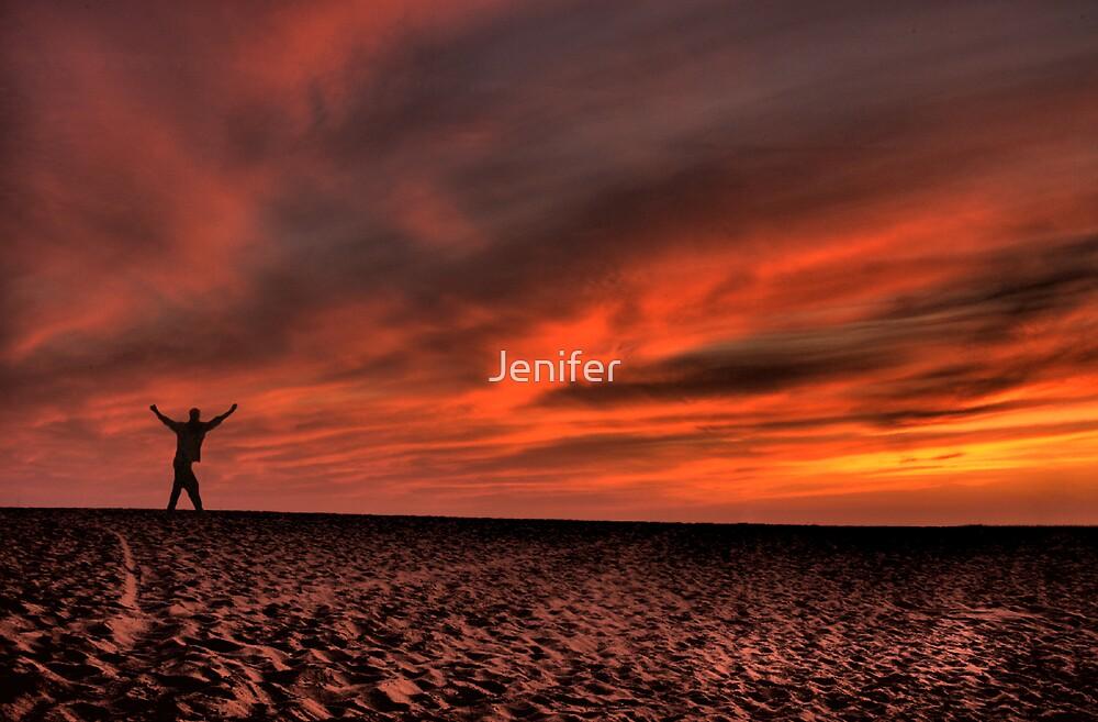 Blazing Sunset by Jenifer