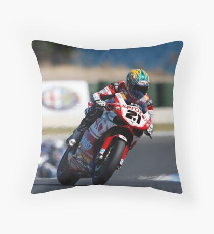 Bayliss goes for pole. Throw Pillow