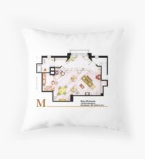 Mary Richards apt. from The Mary Tyler Moore Show Floor Pillow