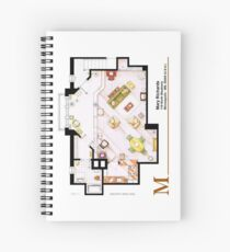 Mary Richards apt. from The Mary Tyler Moore Show Spiral Notebook
