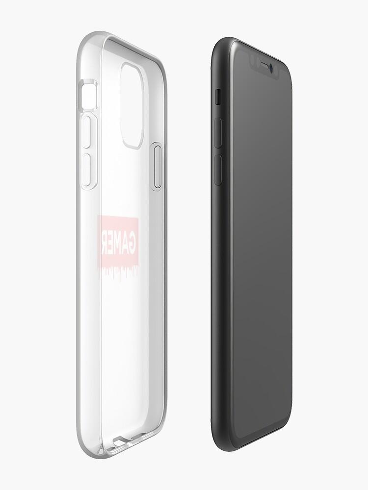 coque iphone 7 plis | Coque iPhone «Gamer Red Block Dripped», par NewMerchandise