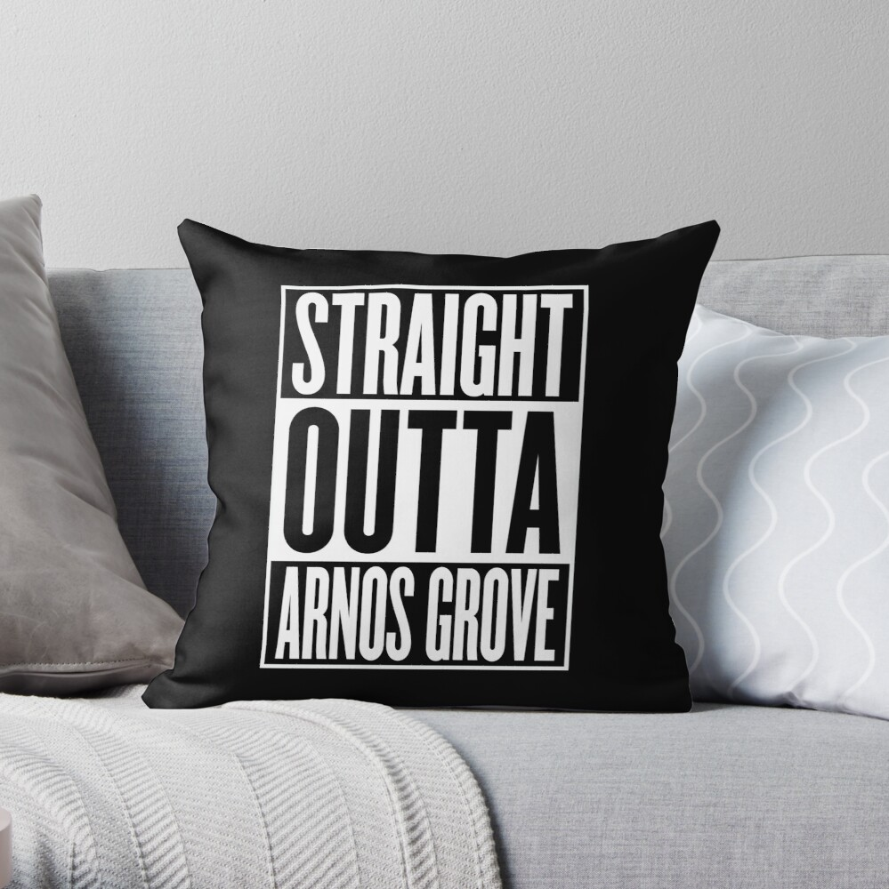 Fantastic Straight Outta Arnos Grove Mockup Throw Pillow Andrewgaddart Wooden Chair Designs For Living Room Andrewgaddartcom