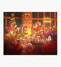 Christmas with Sonic Photographic Print