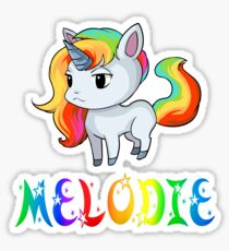 Melodie Unicorn Sticker