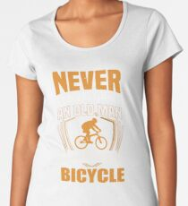Never Underestimate An Old Man With A Bicycle Funny Women's Premium T-Shirt