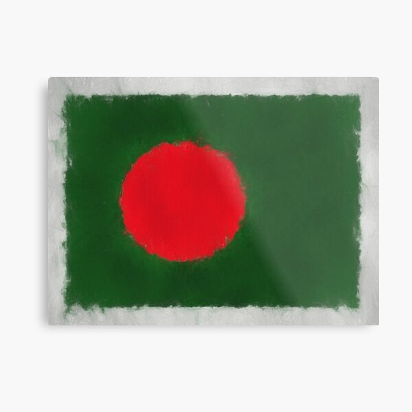 Bangladesh Flag Reworked No. 66, Series 3 Metal Print