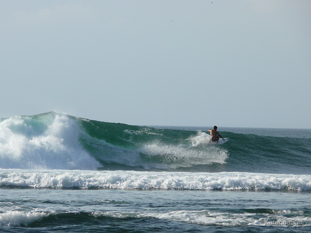 surfing in Bengin, Bali by KaterinaSam