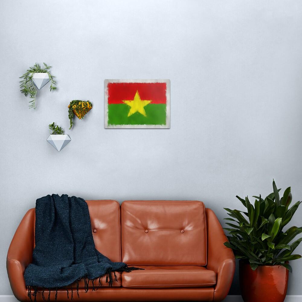 Burkina Faso Flag Reworked No. 66, Series 3 Metal Print