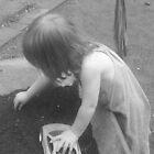 Bargee/Narrowboat Boys Black and White Child at play. by KABFA