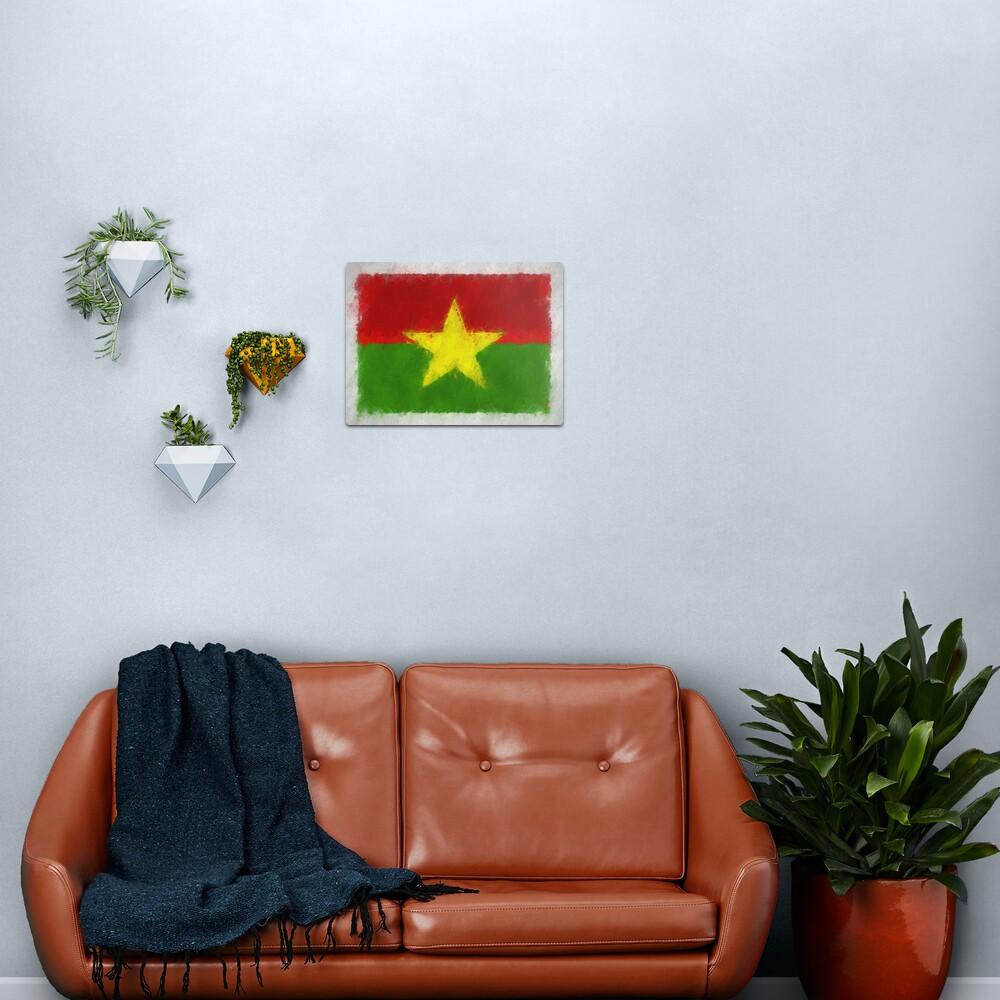 Burkina Faso Flag Reworked No. 66, Series 4 Metal Print