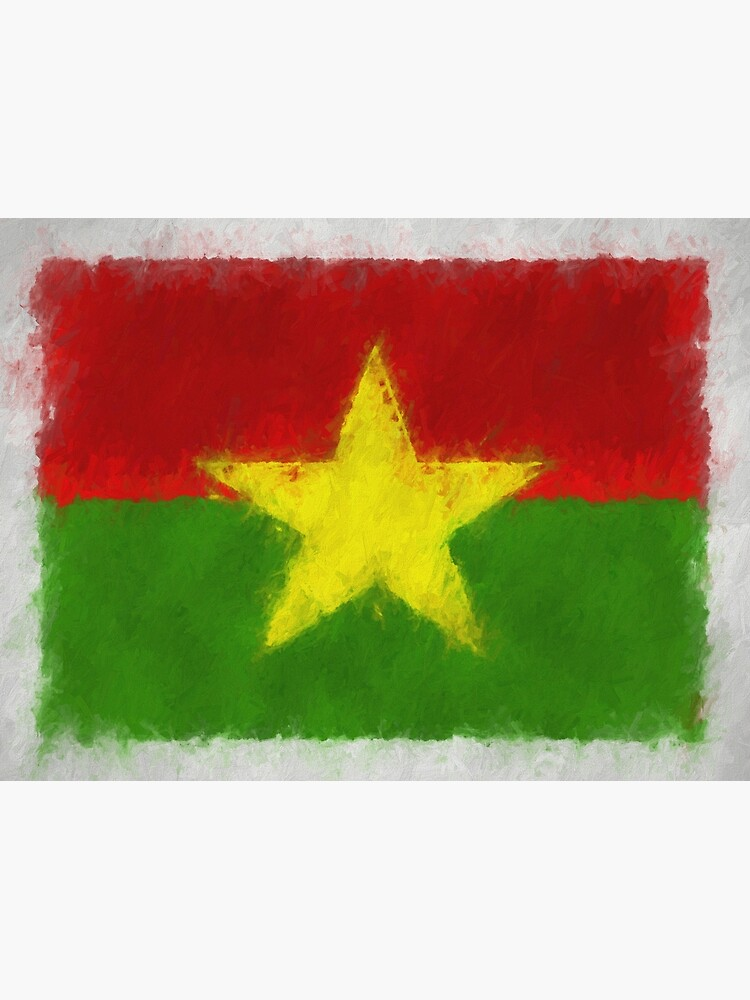 Burkina Faso Flag Reworked No. 66, Series 4 by 8th-and-f