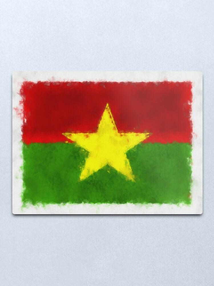 Alternate view of Burkina Faso Flag Reworked No. 66, Series 5 Metal Print