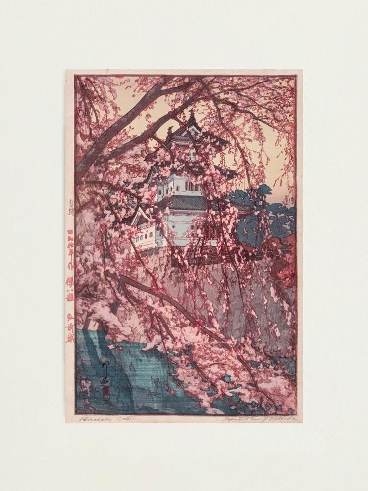 Alternate view of Hirosaki Castle - Yoshida Hiroshi Photographic Print