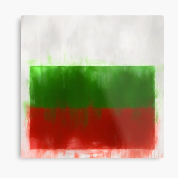 Bulgaria Flag Reworked No. 2, Series 1 Metal Print