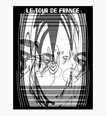 TOUR de FRANCE : Abstract Bicycle Racing Advertising Print Photographic Print