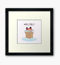 Holly jolly Santa Framed Print