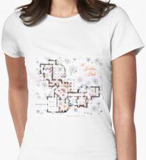 The Golden Girls House floorplan v.1 Women's Fitted T-Shirt