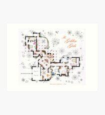The Golden Girls House floorplan v.1 Art Print