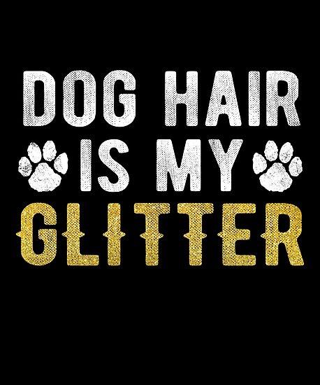 \'Dog Hair Is My Glitter Funny Retro Vet Techs\' Poster by JapaneseInkArt