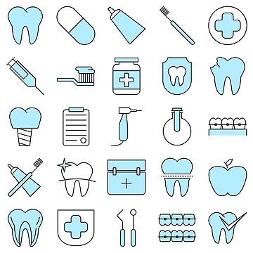 Dentist Pattern Smart Icons by Krukowski