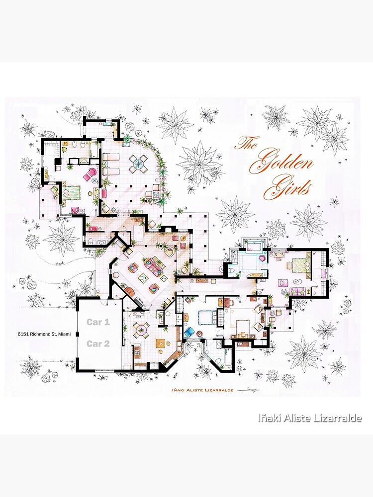 The Golden Girls House floorplan v.2 by nikneuk