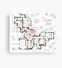 The Golden Girls House floorplan v.2 Metal Print